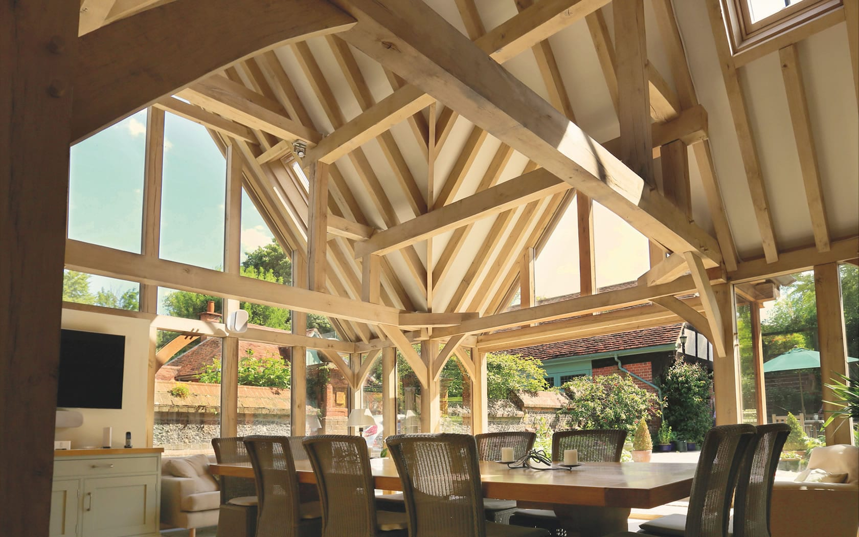 Interior View of an Oak Garden Room Project