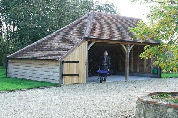 Bespoke Oak Garage