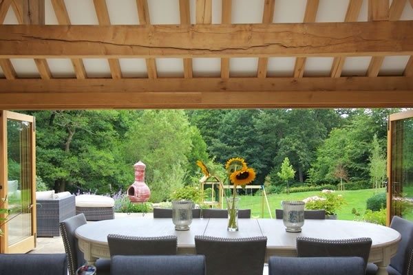Orangery with view of garden