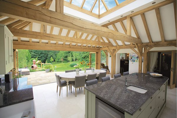 Internal Orangery with Lantern and Oak Rafters