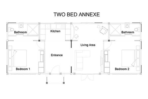 Two Bed Annexe Layout